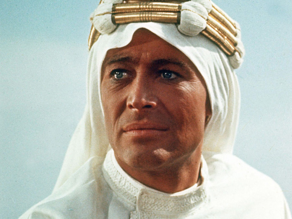 Peter OToole in Lawrence of Arabia