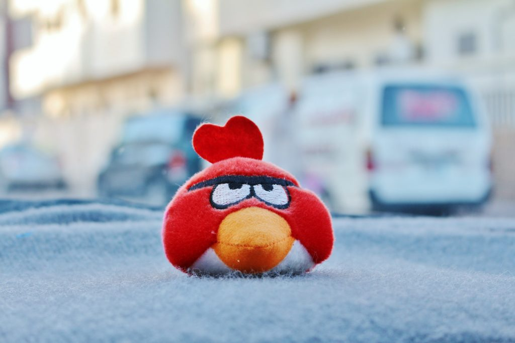 red angry bird character