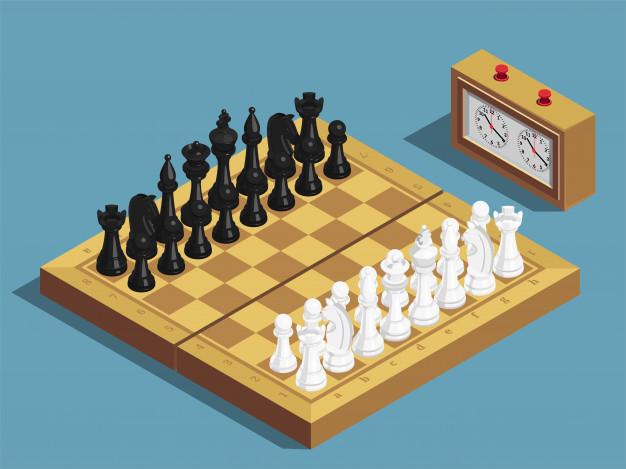 chess beginning layout