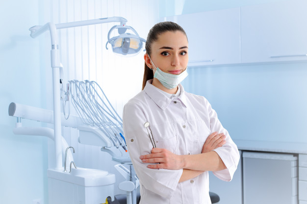 dentist in a dental clinic
